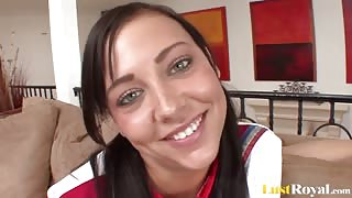 Horny Teen Cheerleader Ivy winters Facialized