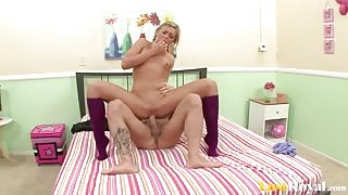 Sexy Ally Kay Shows Her Amazing Cock Riding Skills