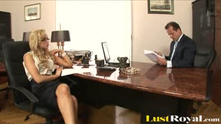 Sexy Blonde Secretary Aleska Diamond Making Boss Happy